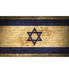 Flags israel with dirty paper texture vector