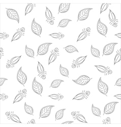 background with leaves contours vector image