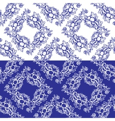 Flowers blue seamless 3 380 vector