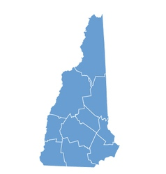 State map of New Hampshire by counties vector image