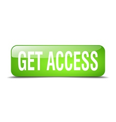 Get access green square 3d realistic isolated web vector