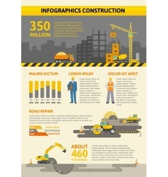 Construction colored infographic vector