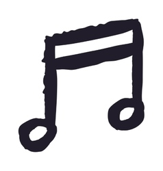 Music note drawing isolated icon design vector