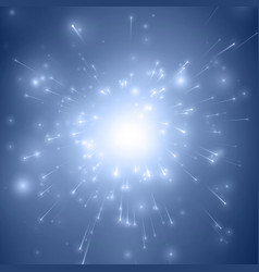 Abstract fireworks explosion blue vector