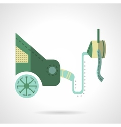Automobile emission test flat icon vector