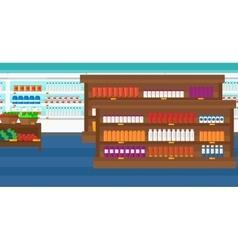 Background of supermarket shelves vector