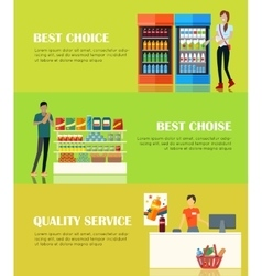 Best Choice Concept Quality Service Concept vector image