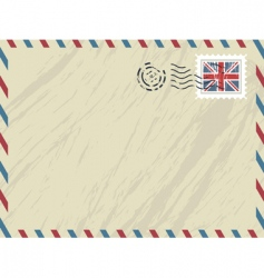 British airmail envelope vector