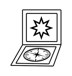 compass guide device isolated icon vector image vector image