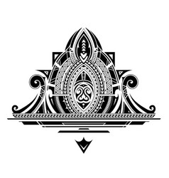 Decorative tattoo ornament vector