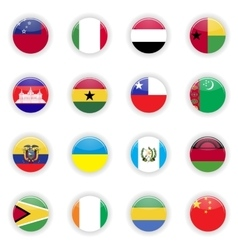 Flags set of the world vector