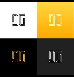 logo dg linear logo of the letter d and g vector image vector image