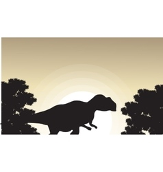 Mapusaurus beautiful landscape of silhouettes vector
