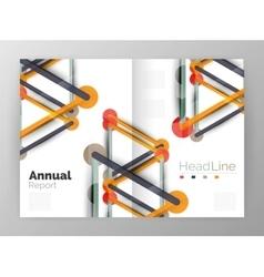 Molecule annual report vector image vector image