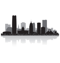 Oklahoma city USA skyline silhouette vector image