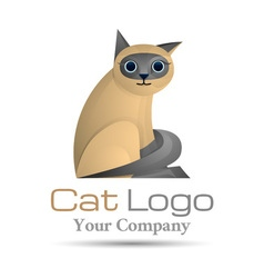 Pets cat Colorful 3d Volume Logo Design Corporate vector image vector image