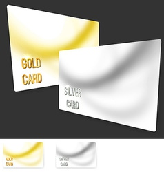 Premium user member card template collection vector image