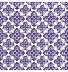 Purple abstract damask pattern background vector