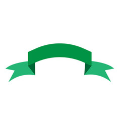 ribbon green sign 204 vector image vector image