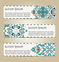 set of colorful horizontal banners vector image vector image