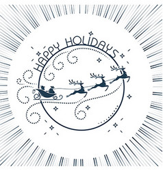 silhouette Christmas Day vector image vector image
