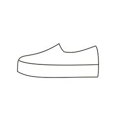 Slipon shoe vector