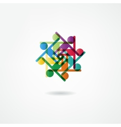 Team symbol Collaboaration vector image