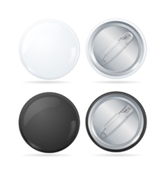 Template Blank Circle Button Badge Pin Set vector image vector image