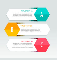 Three steps colorful infographics template vector