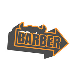 vintage barber shop emblem or label vector image vector image