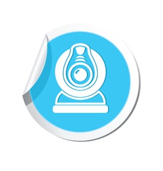 web camera BLUE LABEL vector image