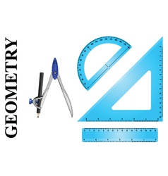 Geometry instrument set vector image