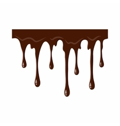 Flowing chocolate icon vector