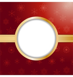 Red christmas background and border vector