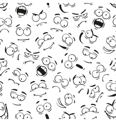 Human cartoon emoticon faces pattern vector