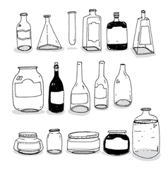 Bottles and cans vector