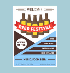 Beer festival invitation card or party poster vector