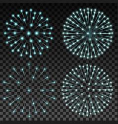 Set of fireworks on transparent background vector