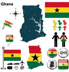Ghana map vector image