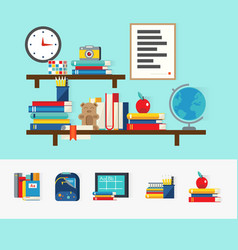 School books concept vector
