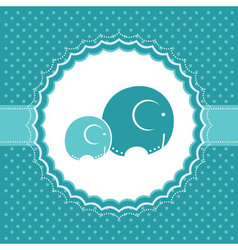elephant baby greeting card vector image