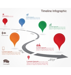 Timeline infographics with elements icons vector