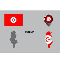 Map of tunisia and symbol vector