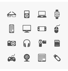 Devices and gadgets icons set vector