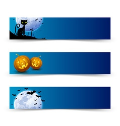 Creepy halloween banners vector