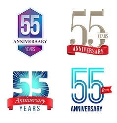 55 years anniversary symbol vector