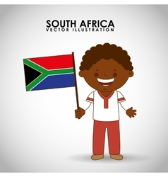 South african kid vector