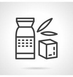 Whole cereal pack simple line icon vector