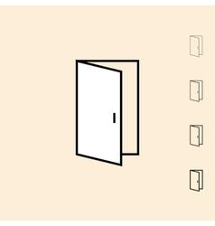Icon of open door vector