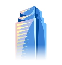 City skyscraper in blue colors cityscape vector
